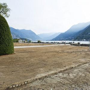 Cantieri Villa Olmo Como, il Parterre di Villa Olmo durante la riqualificazione