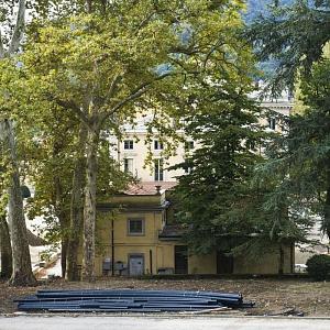Cantieri Villa Olmo Como, Il parco storico di villa olmo durante la riqualificazione