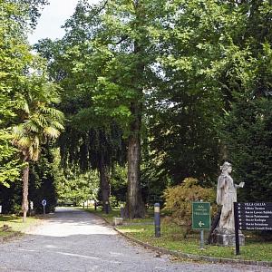 Il parco di villa Saporiti a Como